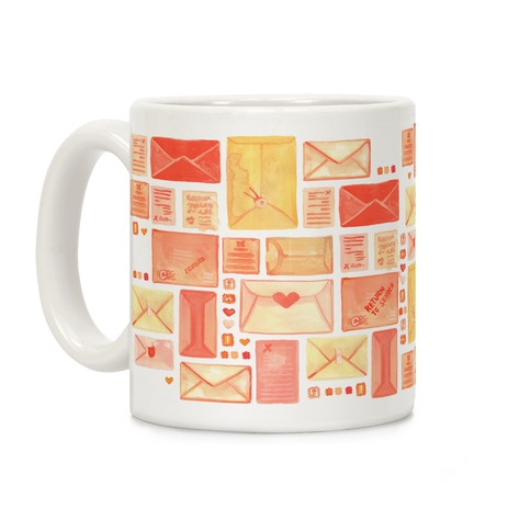 Love Letter Pattern Coffee Mug