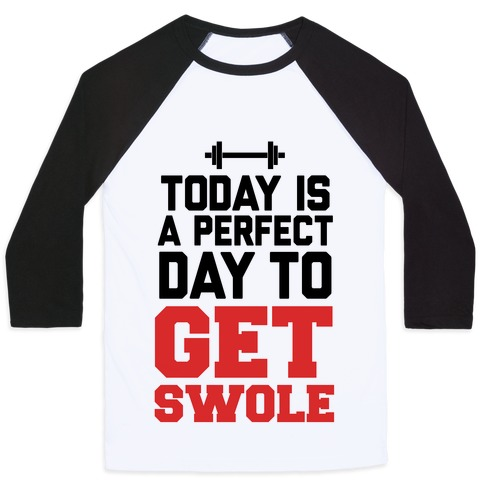 Today Is a Perfect Day to Get Swole Baseball Tee