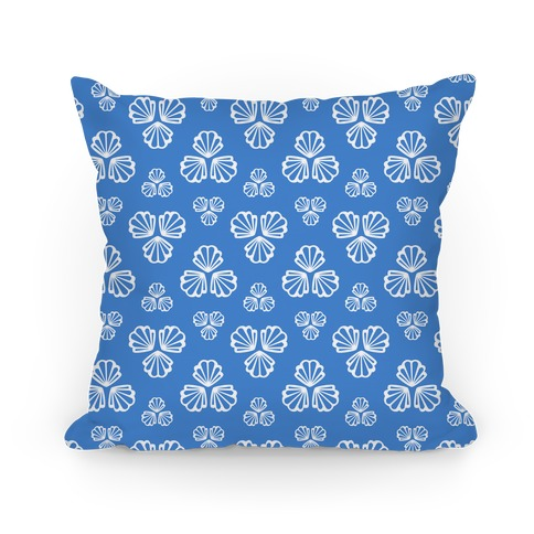 Blue Seashells Pattern Pillow