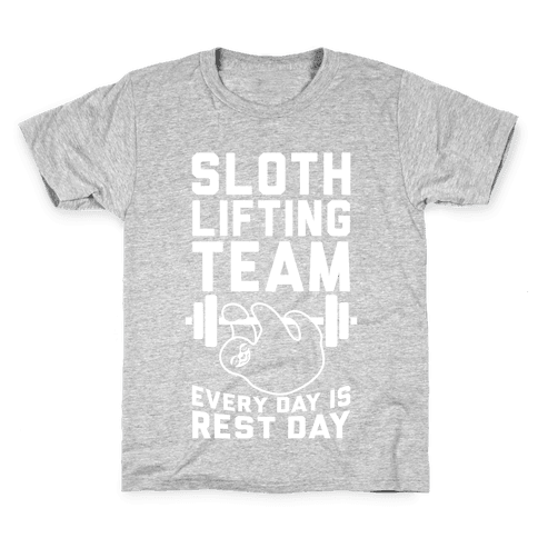 Sloth Lifting Team Kids T-Shirt