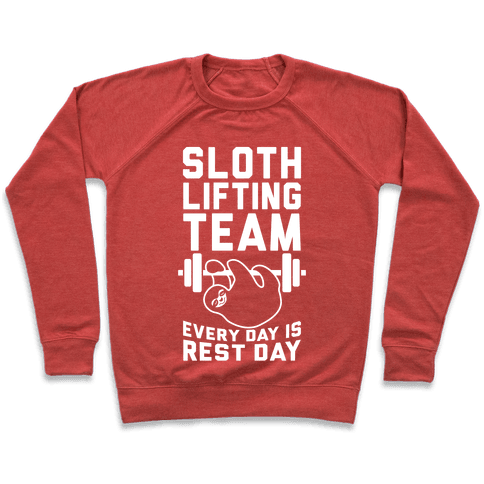 Sloth Lifting Team Pullover
