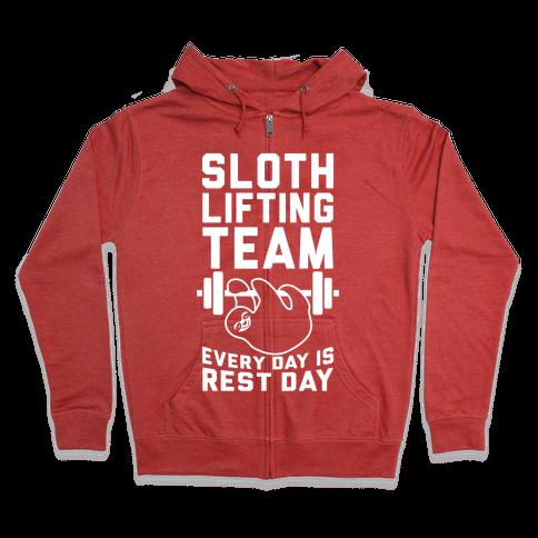 Sloth Lifting Team Zip Hoodie