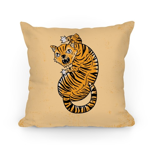 The Ferocious Tiger Pillow