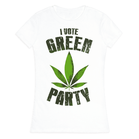 I Vote Green Party (Tank) Womens T-Shirt