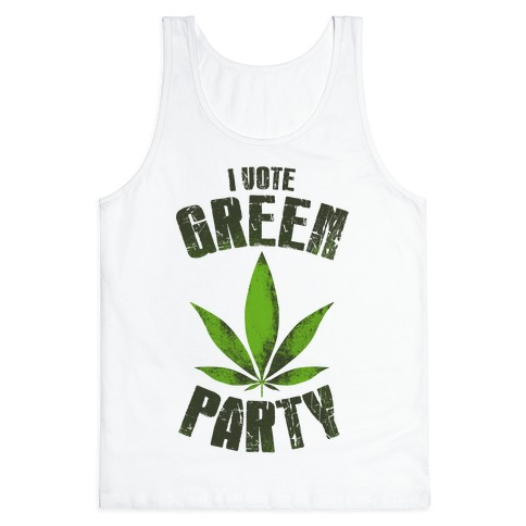 I Vote Green Party (Tank) Tank Top