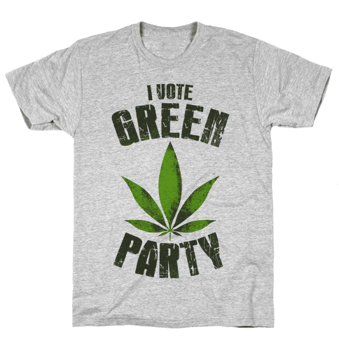 I Vote Green Party (Tank) Mens T-Shirt