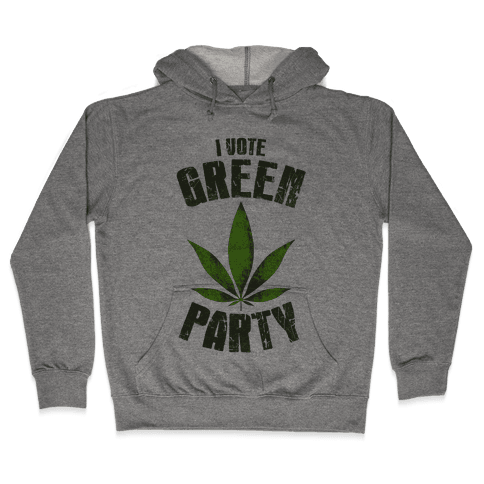 I Vote Green Party (Tank) Hooded Sweatshirt