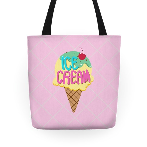 Pastel Ice Cream Cone Tote