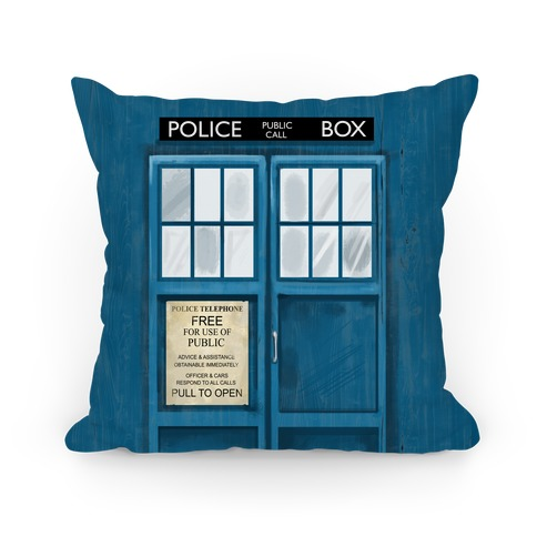 Police Box Pillow