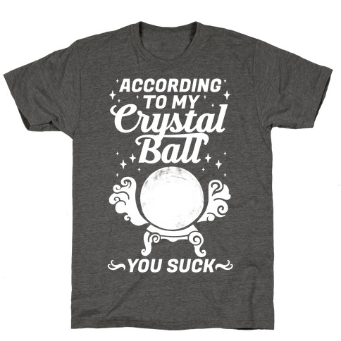 According To My Crystal Ball You Suck T-Shirt