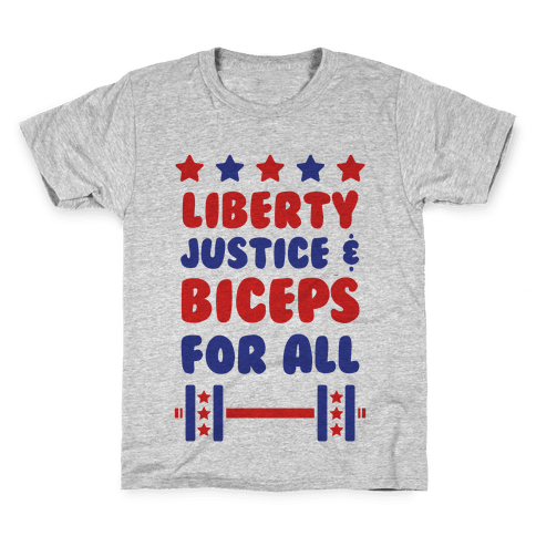 Liberty Justice & Biceps For All Kids T-Shirt