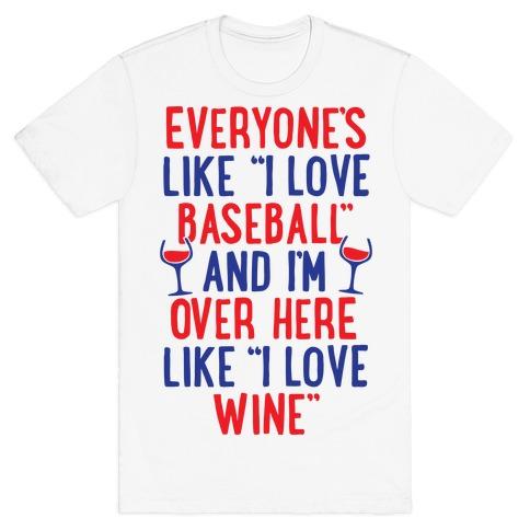 Baseball And Wine T-Shirt