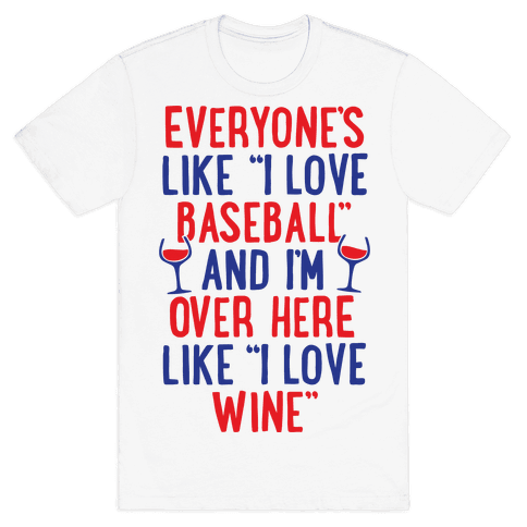 Baseball And Wine Mens T-Shirt