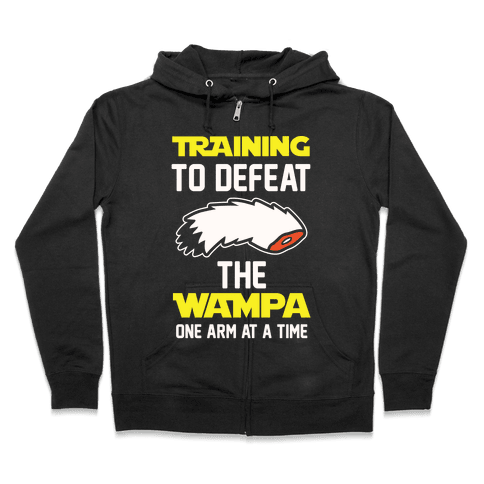 Training To Defeat The Wampa - One Arm at a Time Zip Hoodie