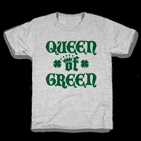 Queen Of Green Kids T-Shirt
