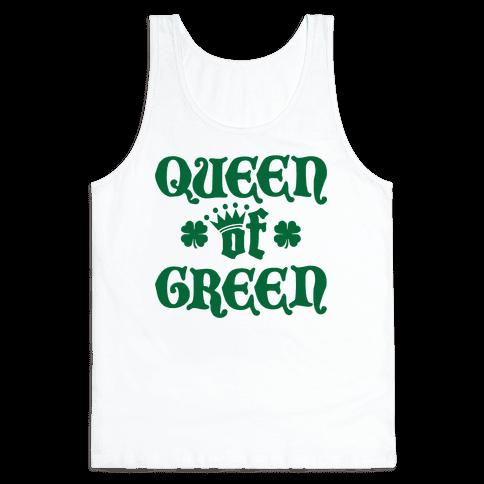 Queen Of Green Tank Top