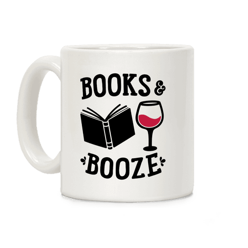 Books & Booze Coffee Mug
