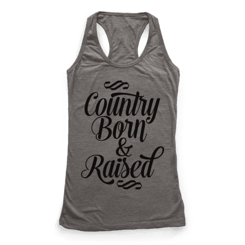 Country Born and Raised Racerback Tank Top