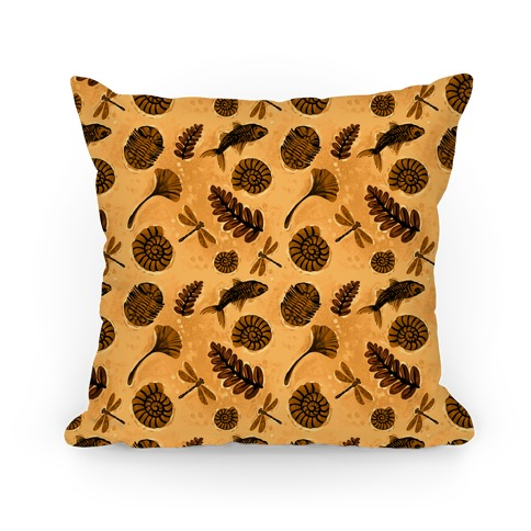 Small Fossil Pattern Pillow