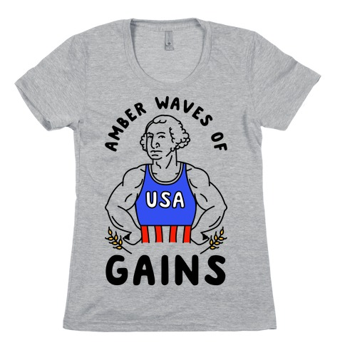Amber Waves Of Gains Womens T-Shirt
