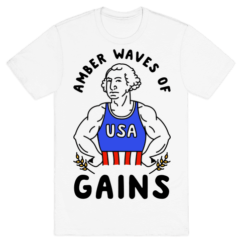 Amber Waves Of Gains Mens T-Shirt