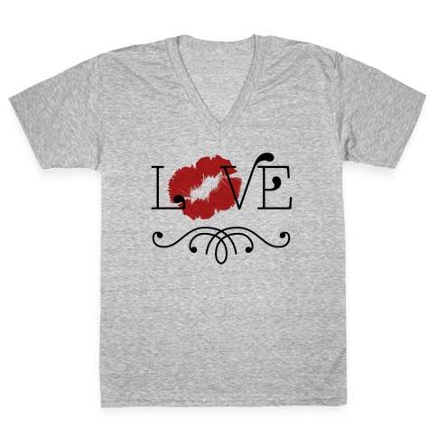 Love Kisses V-Neck Tee Shirt