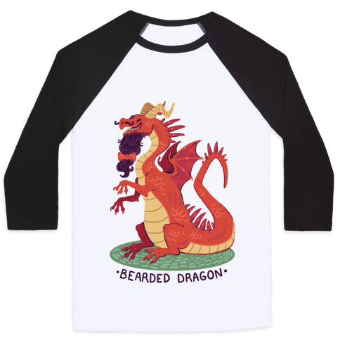 Bearded Dragon Baseball Tee