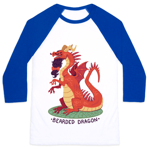 Bearded Dragon Baseball Tee