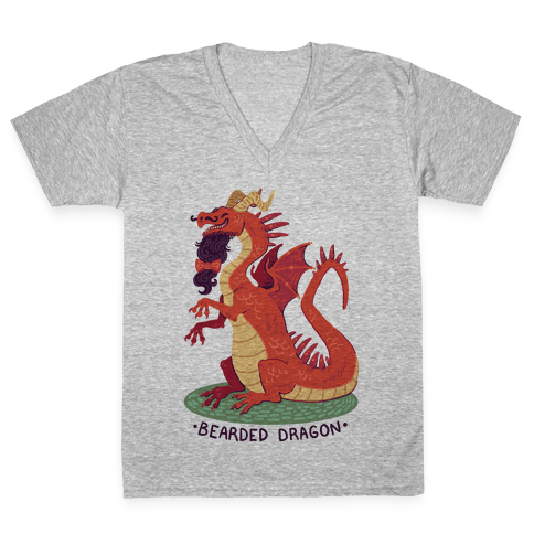 Bearded Dragon V-Neck Tee Shirt