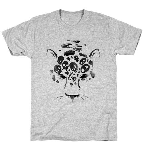 Spooky Skulls Jaguar Mens T-Shirt
