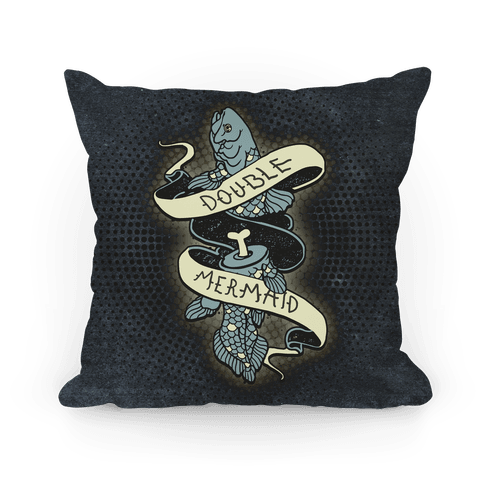 Double Mermaid Pillow