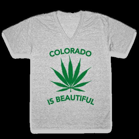 COLORADO IS BEAUTIFUL V-Neck Tee Shirt