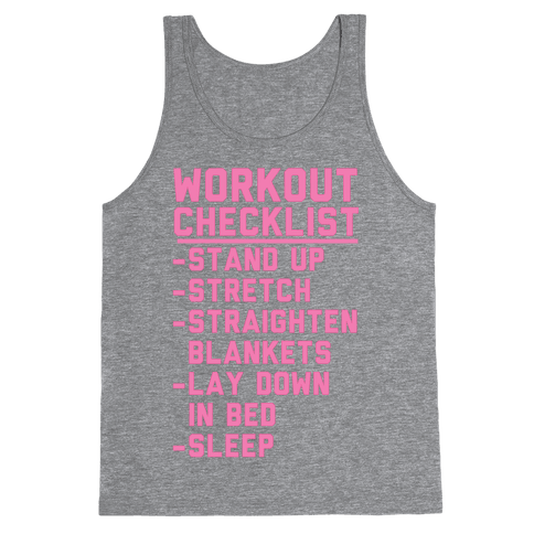 Workout Checklist Tank Top