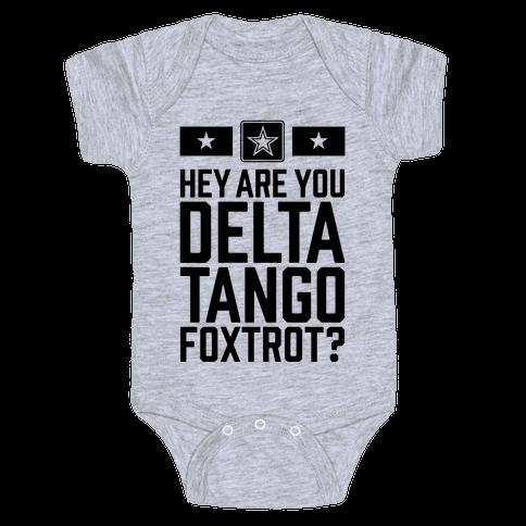 Delta Tango Foxtrot (Army) Baby Onesy