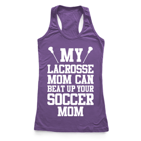 Lacrosse Mom Racerback Tank Top