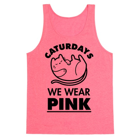 Caturdays We Wear Pink Tank Top