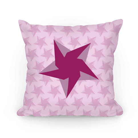 Pink Star Pattern Pillow