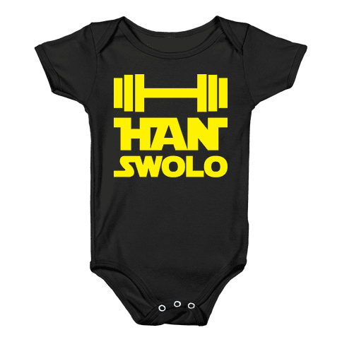 Han Swolo Baby Onesy
