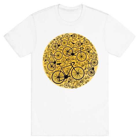 All Bikes Go Full Circle Mens T-Shirt