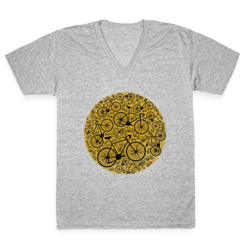 All Bikes Go Full Circle V-Neck Tee Shirt