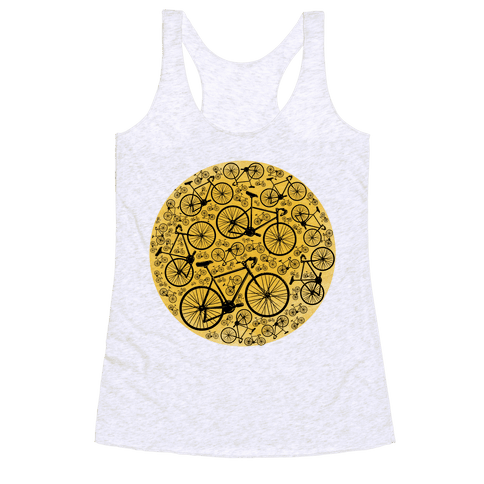 All Bikes Go Full Circle Racerback Tank Top