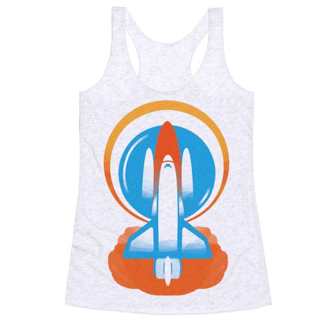 Space Ship Launch Racerback Tank Top
