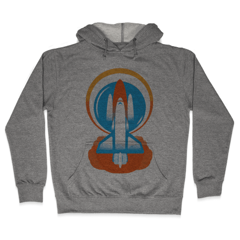 Space Ship Launch Hooded Sweatshirt