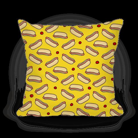 Yellow Hot Dog Pattern