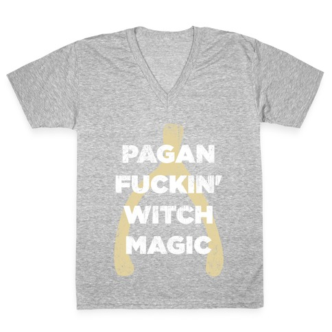 Wishbones are WITCH MAGIC (Long Sleeve) V-Neck Tee Shirt