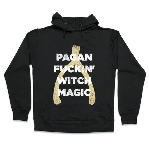 Wishbones are WITCH MAGIC (Long Sleeve) Hooded Sweatshirt