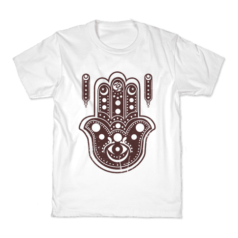 Namaste Hamsa Hand Kids T-Shirt