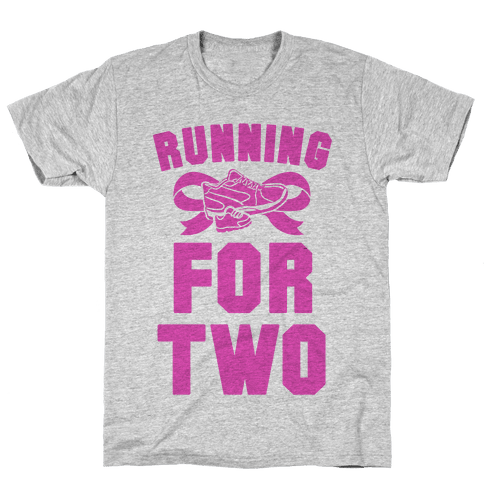 Running for Two Mens T-Shirt