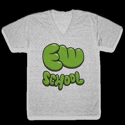 Ew School V-Neck Tee Shirt