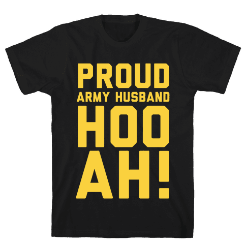 Proud Army Husband Mens T-Shirt